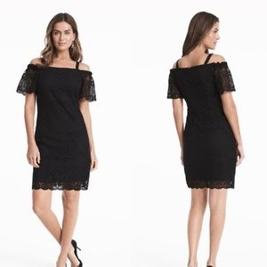 6 white house black market lace off shoulder dress